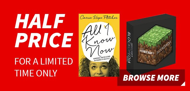 Half-price books for a limited time only