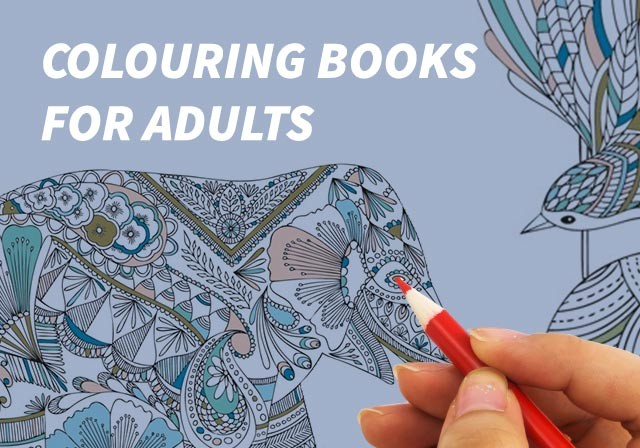Colouring books for adults waterstones