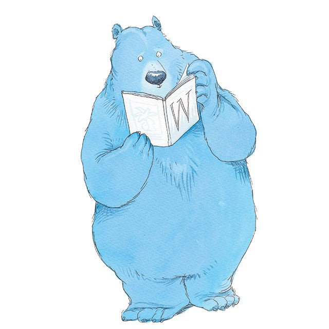 The Big Blue Picture Book Bear