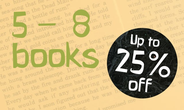 Up to 25% off thousands of Books for Children aged 5 to 8