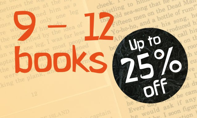 Up to 25% off thousands of Books for Children aged 9 to 12
