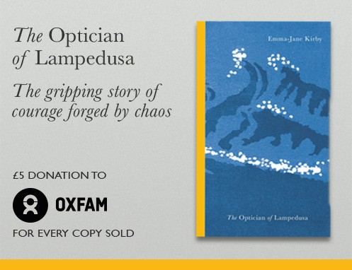 £5 donated to Oxfam for every copy of The Optician of Lampedusa sold
