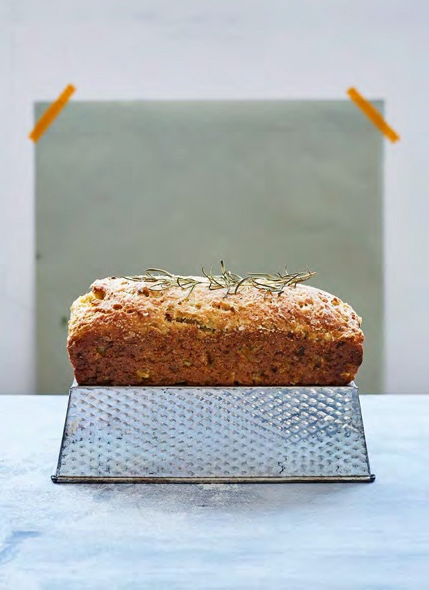 Rosemary, Parsnip and Parmesan Loaf Cake
